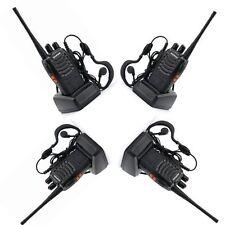4x Baofeng BF-888S UHF 400-470 MHz 5W CTCSS Two-way Ham Radio 16CH Walkie Talkie