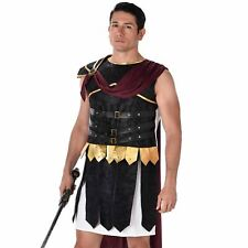 Mens Roman Gladiator Costume Warrior Soldier Fancy Dress Outfit