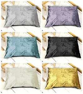 Luxury Crushed Velvet Dog Bed Shimmer Glam Cushion Pet Puppy Duvet - All Sizes!