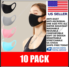 ✅ 10 Pack Blowout✅ Washable Reusable Mask✅Black Face Cloth Cover ✅ Us Seller