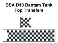 BSA Bantam D10 Sport Tank Top Transfers Decals Sold as a Two Transfer Set