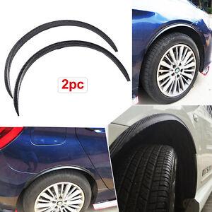 2× Car Fender Flares Arch Truck Wheel Trims Protector Eyebrow Strip Carbon Fiber