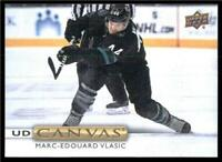 2019-20 Upper Deck UD Canvas #C75 Marc-Edouard Vlasic - San Jose Sharks
