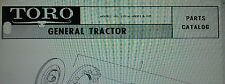 TORO GENERAL Riding Lawn Golf Groundskeeper Industrial Tractor Parts Manual 40pg