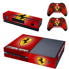 Console Ferrari Xbox One Peau + 2 X Controller autocollants decal plastron-Pad