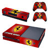 Ferrari Xbox One Console SKIN + 2 x Controller Stickers Decal FacePlate - Pad