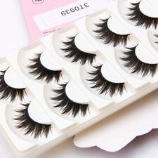 Handmade 5 Pairs Natural Long Black Thick False Eyelashes Fake Eye Lashes Makeup