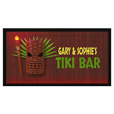 Personalised Tiki Bar Mat / Runner - Add Your Name - Beer, Pub, Top, Cocktail