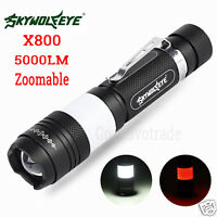 G700 X800 Zoomable 5000LM CREE XML T6 LED Military 18650 Flashlight Torch Lamp