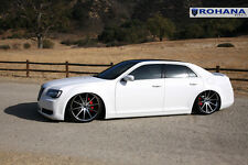 22x9 22x10.5 +18 Rohana RC10 5x115 Machine Rims Fit Chrysler 300S 2012 Staggered