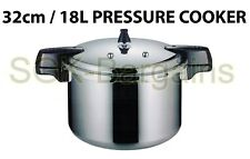 32cm / 18L Aluminium Kitchen Pressure Cooker With Gasket  & Steamer High Quality
