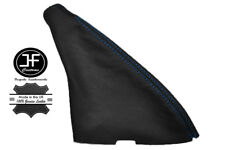 BLUE STITCH REAL BLACK LEATHER HANDBRAKE BOOT FITS MG ZR 2003-2005