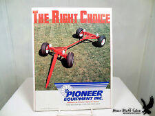 Pioneer Equipment Inc The Right Choice Farm Wagon Plow Sales Flyer Brochures
