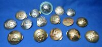 WWII Army Infantry, Military Police Enlisted Discs Lot Of 17 - CURVED STYLE