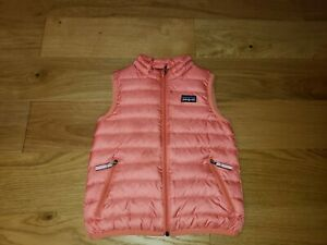 Patagonia Toddler Girl Baby Down Sweater Vest size 3T Coral Pink