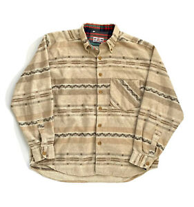 Men's Vintage Essemme Aztec Style Neutral/Sand Thick Overshirt Made In Italy XL