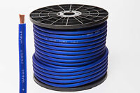 4 AWG GAUGE 25mm² OVERSIZED BLUE POWER CABLE CCA PER METRE HIGH QUALITY WIRE