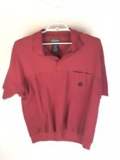 Vintage Members Only Shirt Size Xl Burgundy Polyester Blend