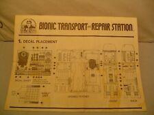 Six Million Dollar Man, Bionic Transport & Repair Station Instruction sheet 4pg