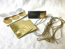 Gift Tag Set Christmas Wedding Gold Silver Envelopes, Embossed Stickers, Cord