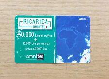 RICARICA TELEFONICA OMNITEL - COME RICARICARE LA CARTA - 50,000 + 10,00 LIRE