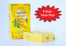 (6 boxes) Ginseng Herbal whitening Soap reduce dark spot 80g +free ship in US