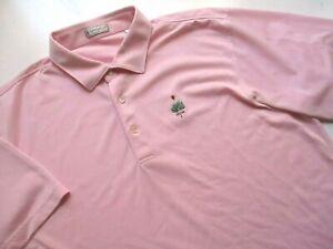 Mens XL Peter Millar Polo Golf Shirt Pink Poly Merion Golf Club Pennsylvania