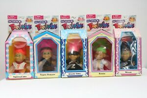 Lot of 5 Vintage 90s Trollkins Troll Doll New in Package Rare 1998 RARE