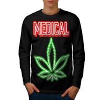 Wellcoda Medical Marijuana Rasta Mens Long Sleeve T-shirt, Smoke Graphic Design