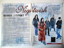COUPURE DE PRESSE-CLIPPING :  NIGHTWISH [2pages] 2004 Tuomas Holopainen,Nemo