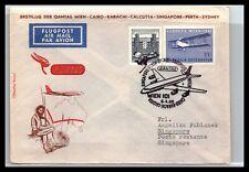 Gp Goldpath: Austria Cover 1965 First Flight To Singapore Cv309_P03