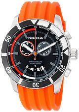 Nautica Men's N17586G NSR 08 Sporty Orange Resin Chronograph Tachymeter Watch