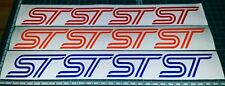 4x FORD FOCUS ST FIESTA ST sticker ALL COLOURS(ANY SIZE) badge decal emblems