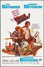VILLA RIDES! ORIGINAL MOVIE 1-SHEET, 1968, YUL BRENNER, CHARLES BRONSON, MITCHUM