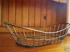 Iron French Style Serving Tray Bread Toast Fruit Basket Bowl 42x20x11cm S