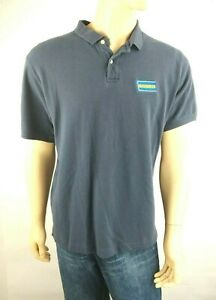 Blockbuster Navy Front Patch Polo Shirt Size XL