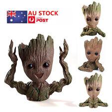 AU 4PCS Guardians of The Galaxy Baby Groot  Figure Flowerpot Pen Pot Toys Decor