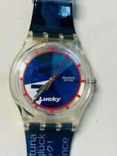 """1998 NIB SWISS COLLECTORS CLUB SWATCH SPECIAL WATCH """"LUCKY 7"""" New Battery"""