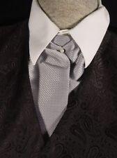 Ascot tie Old West world Victorian Edwardian Wedding style gray adjustable