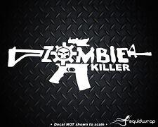 """Zombie Killer AR15 Machine Gun Car Decal Walking Dead 7"""""""