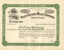 Pilot Cotton Mills > Raleigh North Carolina stock share