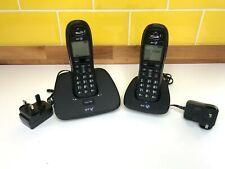 BT1000 Duo Digital Cordless Telephone Home Office House Landline Phone Black