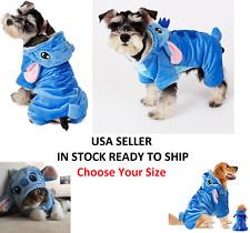 Disney Stitch Pet Cute Costume Dog Cat Hoodie Pajamas Outfit Coat Halloween NEW