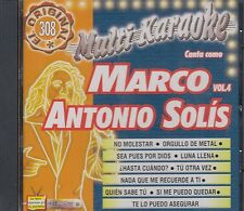 Marco Antonio Solis Karaoke Vol 4 New Nuevo sealed