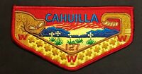 CAHUILLA OA LODGE 127 BSA CALIFORNIA INLAND EMPIRE COUNCIL CA RATTLESNAKE FLAP