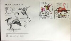 Argentina 1970 Birds First Day Cover Unused