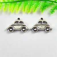51496 Antique Silver Alloy Tiny Car Look Pendants Charms Crafts Findings 80pcs