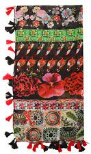 Desigual SONDERPREIS Foulard Damen Blumen Tuch Schal Raport Rojo NEU 18WAWW47