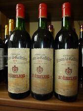 CHATEAU Canon 1973 LA GAFFELIERE saint-émilion grand cru (3 bottle)