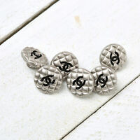 "Chanel Buttons 6pc CC 🖤  Silver ""Mini"" Unstamped Vintage Style 6 Buttons AUTH!"